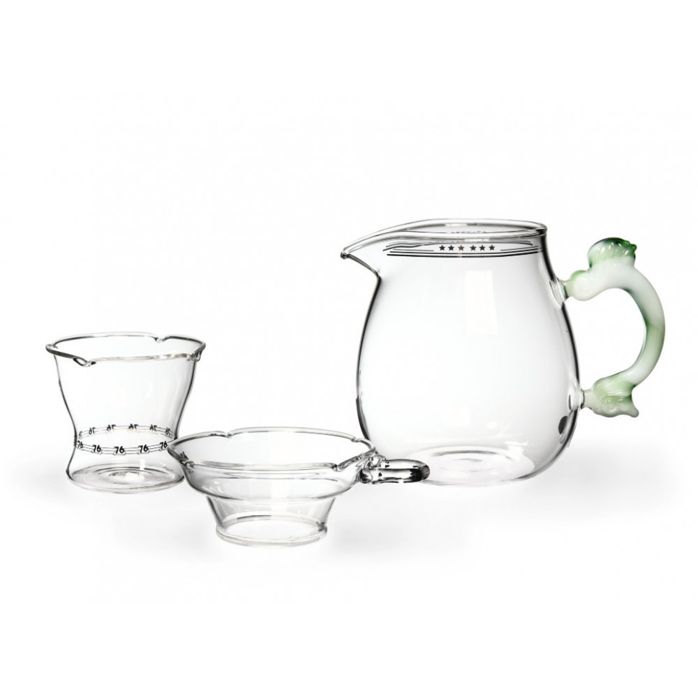 Набор из жаропрочного стекла для заваривания чая Весна