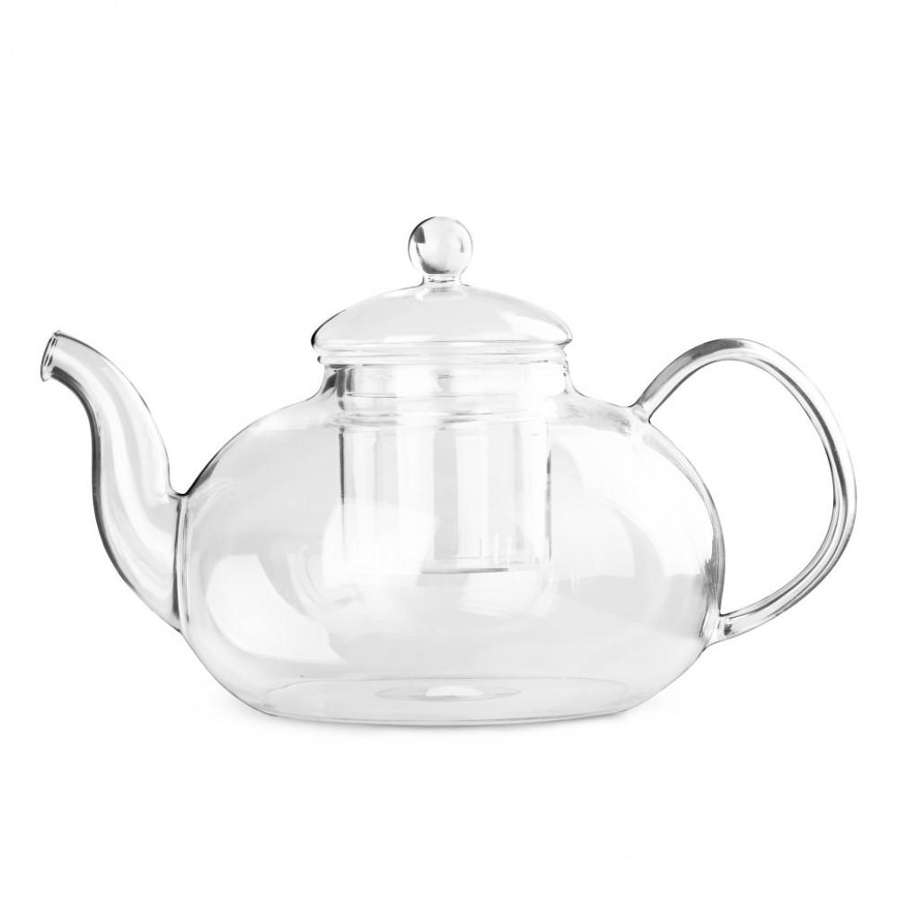 Чайник для варки из жаропрочного стекла 1500 мл Смородина (с металлиз. дном и заварочной колбой)