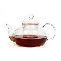 """Чайник для варки из жаропрочного стекла 1500 мл """"Смородина"""" (с металлизированным дном)"""