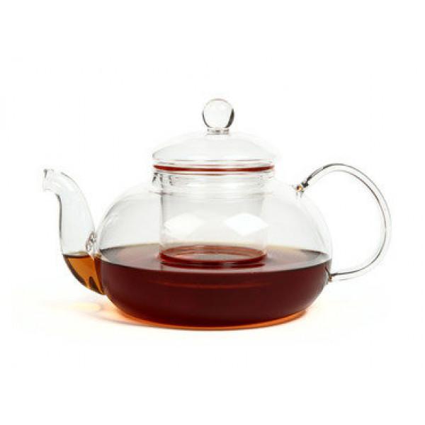 Чайник для варки из жаропрочного стекла 1500 мл Смородина (с металлизированным дном)