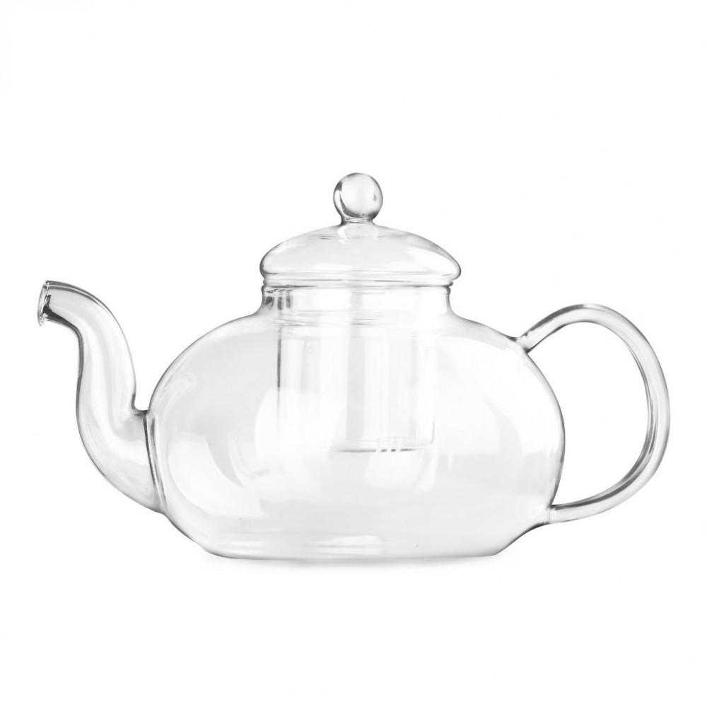 Чайник из жаропрочного стекла 1500 мл Смородина с заварочной колбой