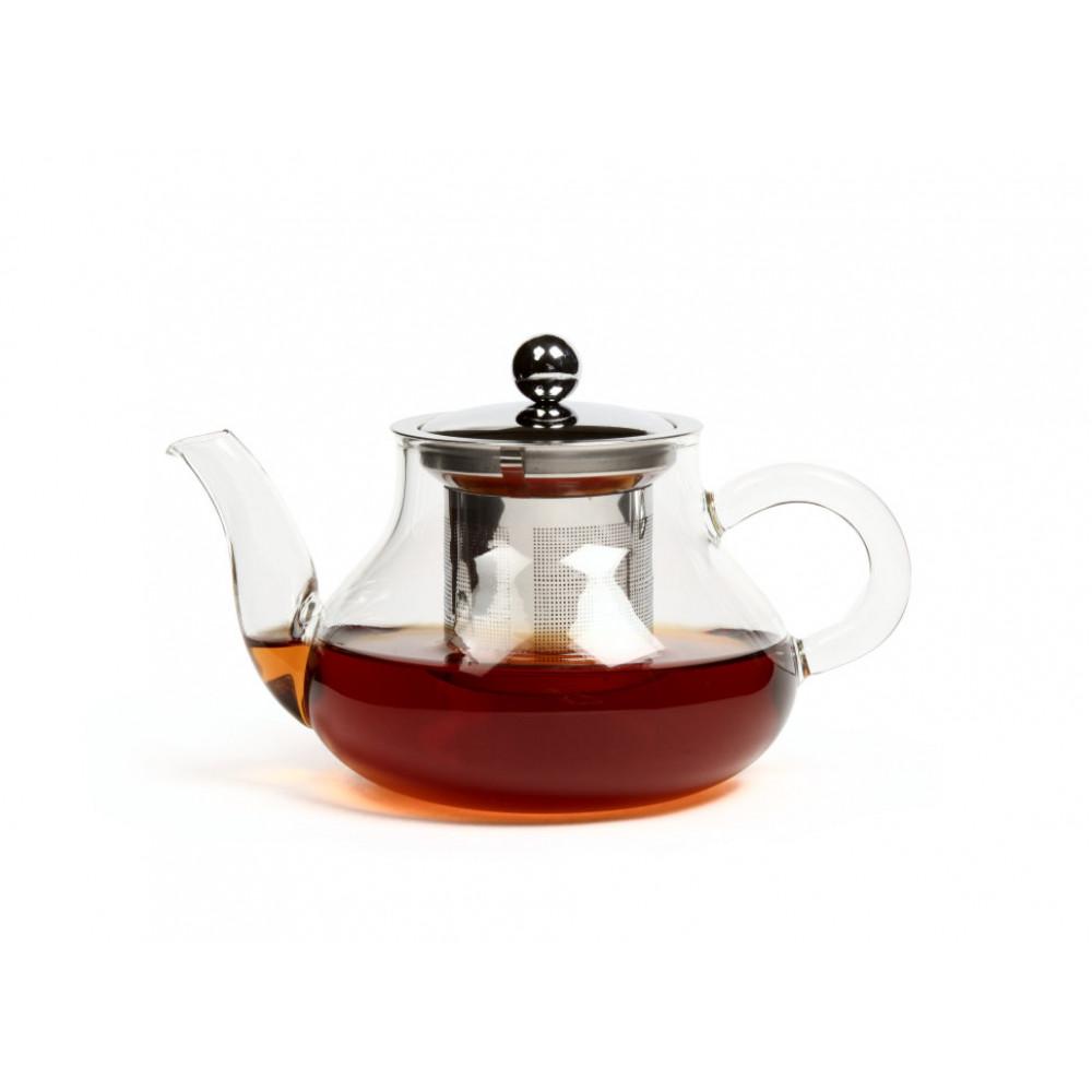 Чайник из жаропрочного стекла 550 мл Годжи с заварочной колбой из металла