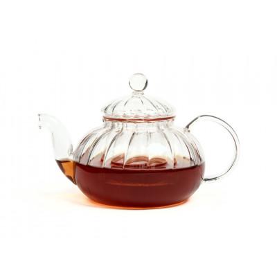 Чайник из жаропрочного стекла 600 мл Лотос с заварочной колбой