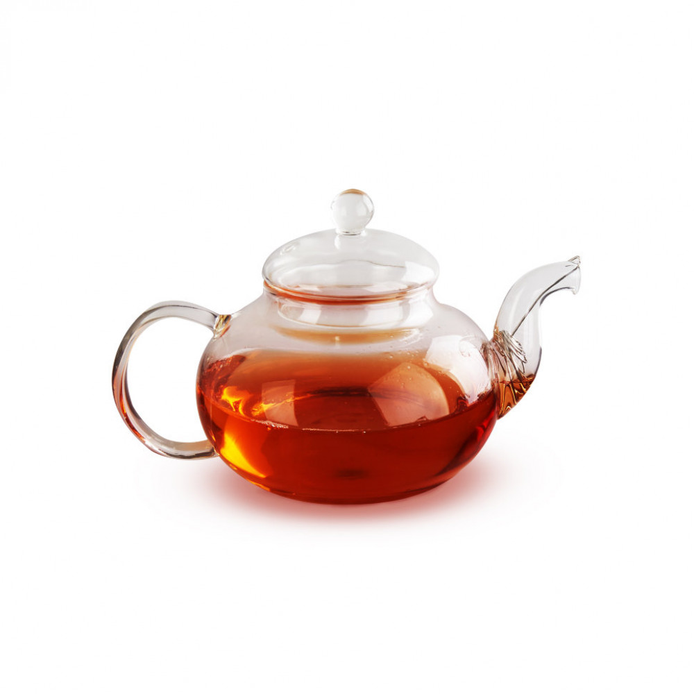Чайник из жаропрочного стекла 600 мл Смородина без заварочной колбы