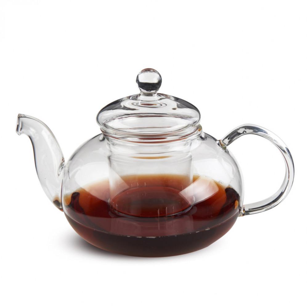 Чайник из жаропрочного стекла 600 мл Смородина с заварочной колбой