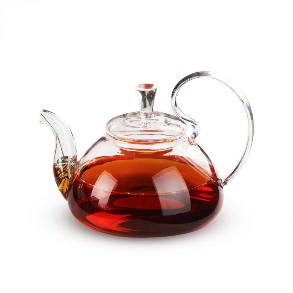 Чайник из жаропрочного стекла 800 мл Клюква