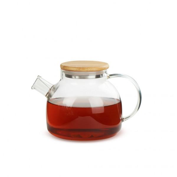 Чайник из жаропрочного стекла 900 мл Бочонок