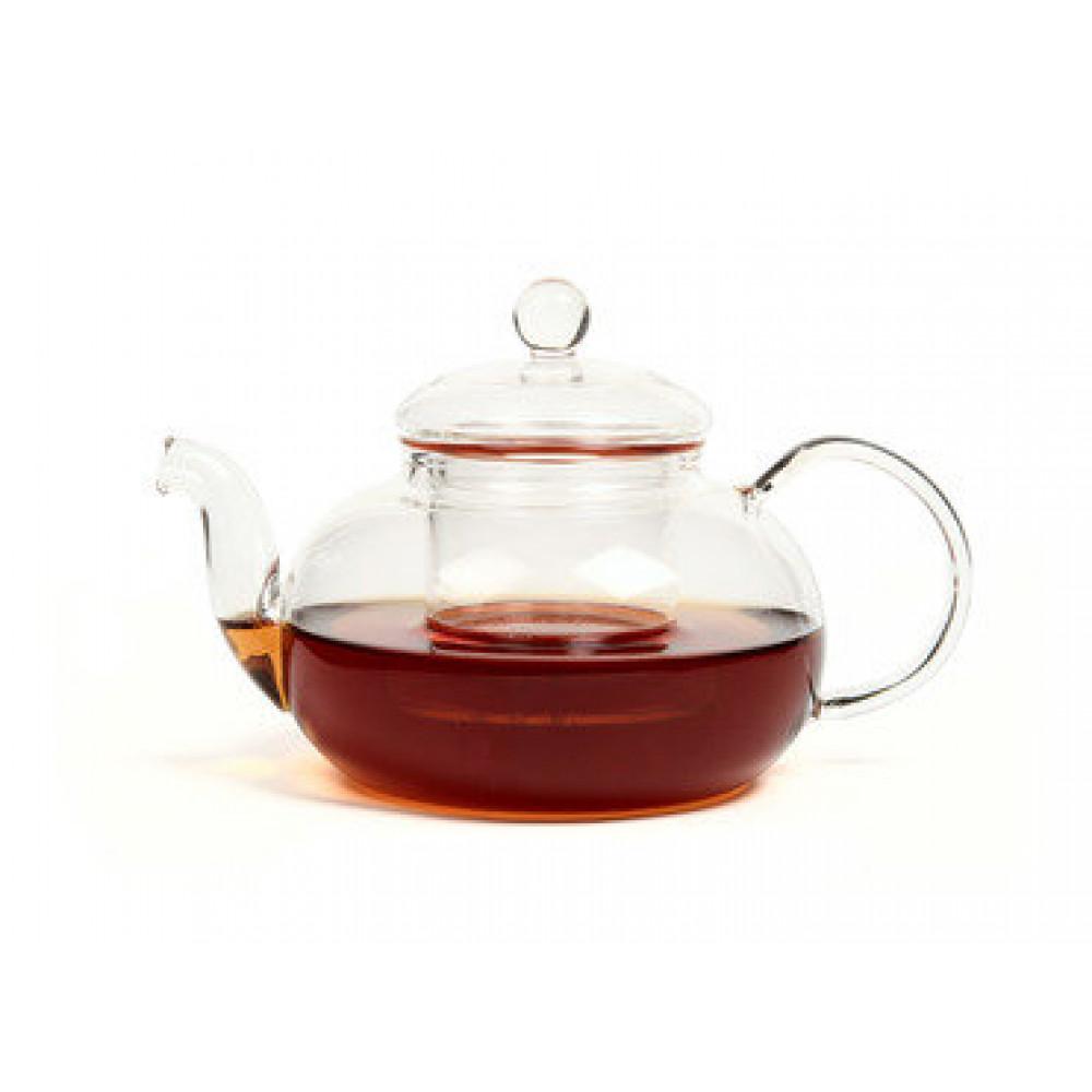 Чайник из жаропрочного стекла 900 мл Смородина без заварочной колбы