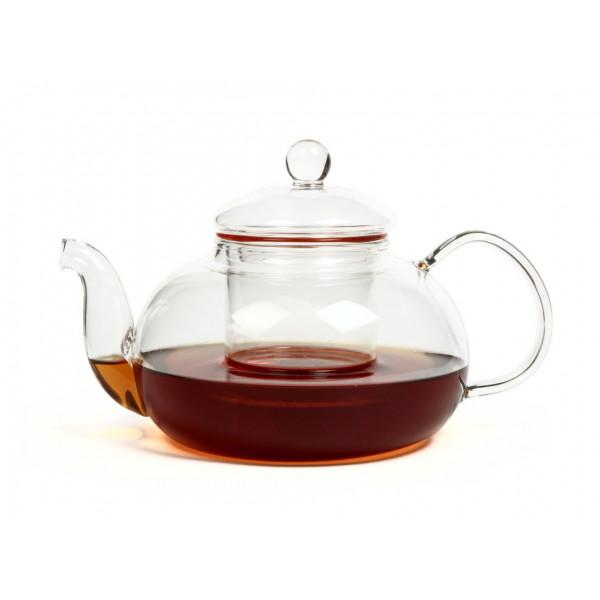 Чайник из жаропрочного стекла 900 мл Смородина с заварочной колбой