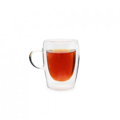 Чашка из жаропрочного стекла с ручкой 300 мл (упаковка 2 шт)