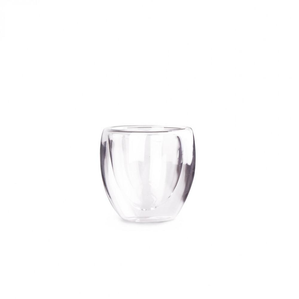Необжигающая чашка из жаропрочного стекла 100 мл Киото (упаковка 4 шт)