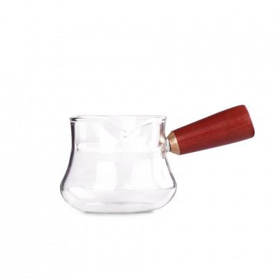 Сливник-чайник из жаропрочного стекла с ситом Снегирь 200 мл