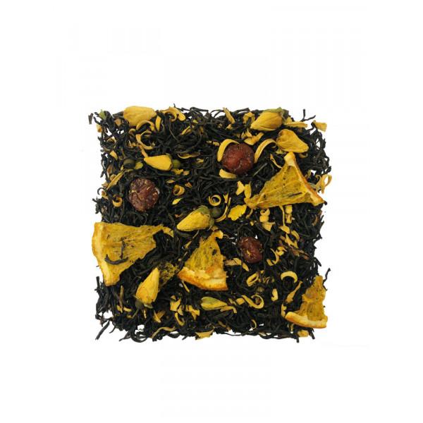 Апельсин Вишня чёрный чай с добавками