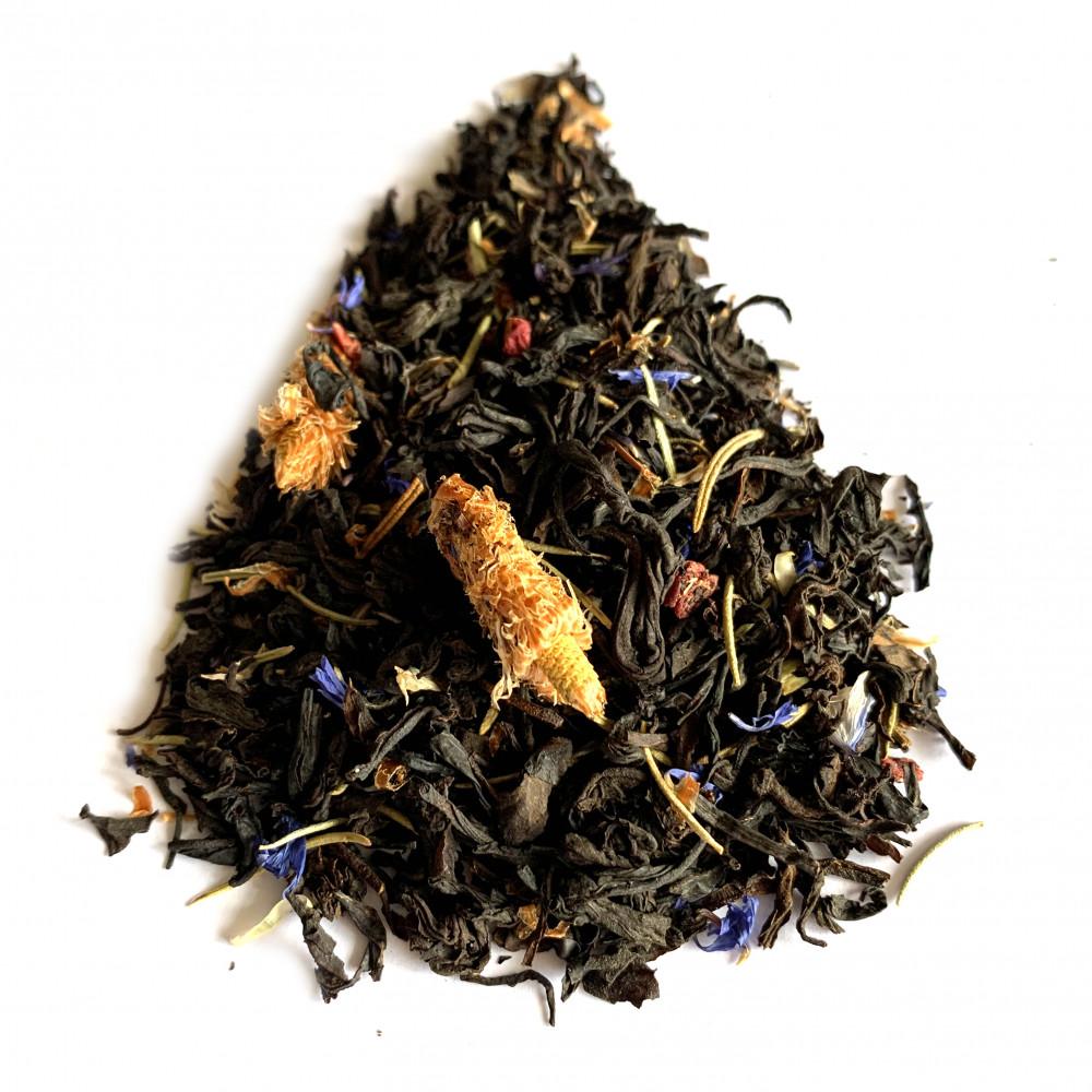 Малина с розмарином чай черный ароматизированный