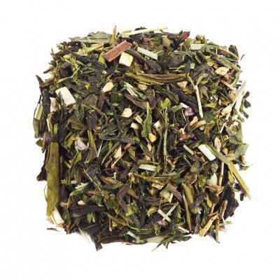 Чай зеленый ароматизированный Имбирный апельсин