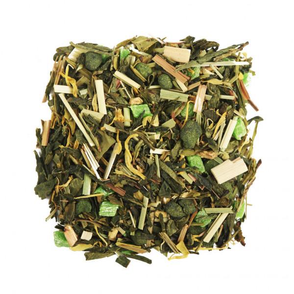 Лайм и Женьшень Чай зеленый ароматизированный