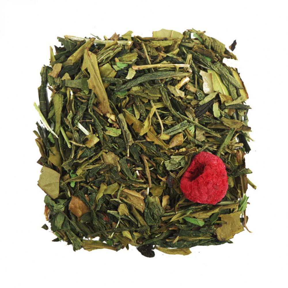 Малина и Мята Чай зеленый ароматизированный