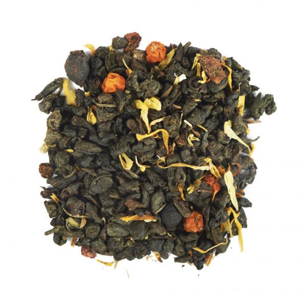 Рябиновые бусы Чай зеленый ароматизированный