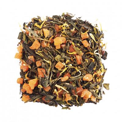 Солнечный персик Чай зеленый ароматизированный