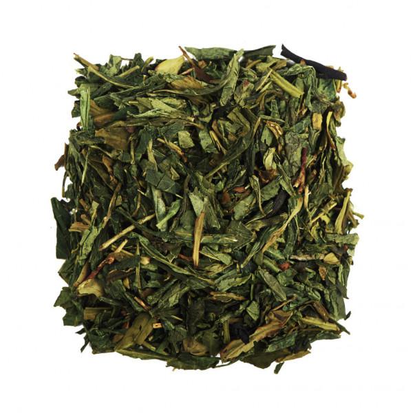 Земляника со сливками Чай зеленый ароматизированный