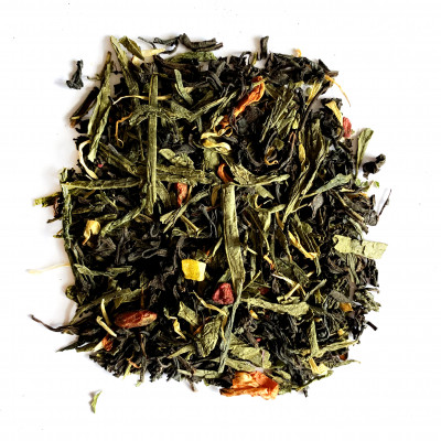 Сладкая дыня Чай черный с зеленым ароматизированный