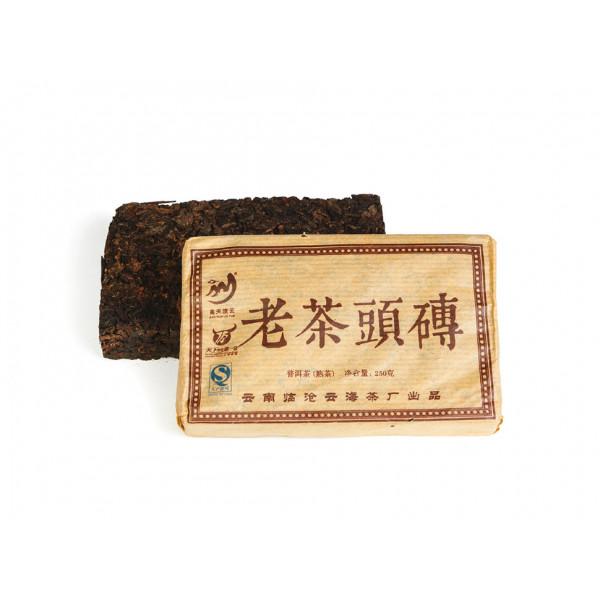 Лао Ча Тоу Юньнань пуэр кирпич 250 г (фаб. Юньхай Ча, Линцан 2012 г.)