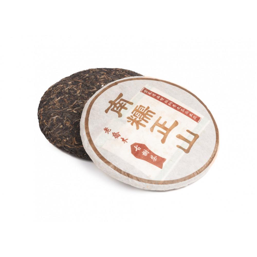 Китайский коллекционный Шен пуэр блин 400 г Нань Ло Чжен Шань (фаб. Пу Вэн, 2004 г.)