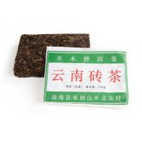 Китайский чай Шен пуэр кирпич 100 г «Старые деревья из Буланьшань» (фаб. Син Бан Чжан, 2013 г.)
