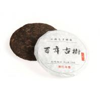 Китайский чай Шу Пуэр блин 150 г «Бай Ниень Гушу» (фаб. Лянхэ 2013 г.)
