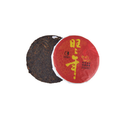 "Шу Пуэр блин 100 г ""Ван Ван Нянь"" (Изобилие) (фаб. Цай Чже), 2018 год"