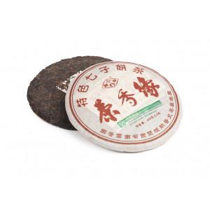 Китайский коллекционный Шу пуэр блин 400 г «Ча Сян Юань» (фаб. Пу Вэн, 2005 г.)