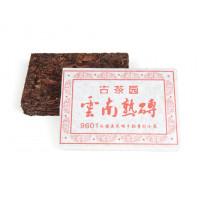 Китайский чай Шу пуэр кирпич 100 г «Юньнань Шу Чжуань 9601» (фаб. Вань Гун Сишуньбаньна, г. 2013)