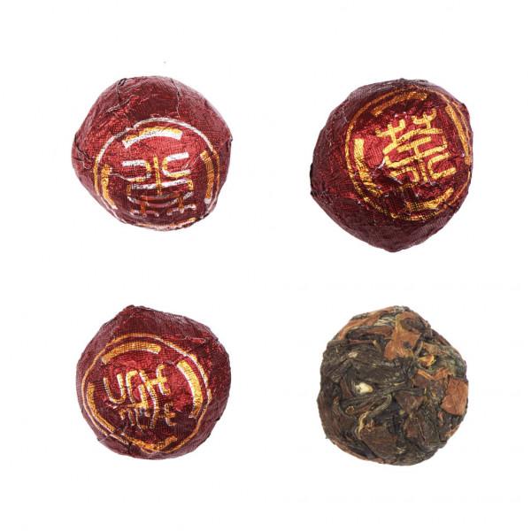 Китайский Белый пресованный чай Шоу Мэй многолетний 5 г